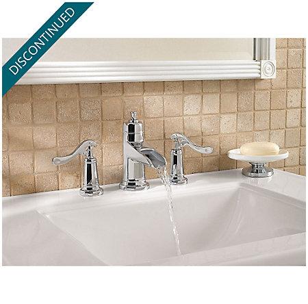 Polished Chrome Ashfield Widespread Bath Faucet - GT49-YP1C - 3