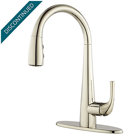 Polished Nickel Alea 1-Handle Pull Down Bar and Prep Faucet - GT72-ALDD - 2