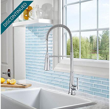 Polished Chrome Zuri Culinary Kitchen Faucet - GT529-MCC - 2