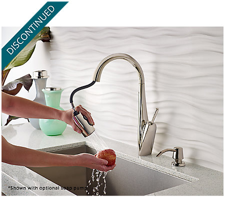 Polished Nickel Zuri Pull-Down Kitchen Faucet - GT529-MPD - 5