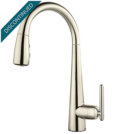Polished Nickel Lita 1 Handle Pull Down Bar and Prep Faucet - GT72-SMDD - 1