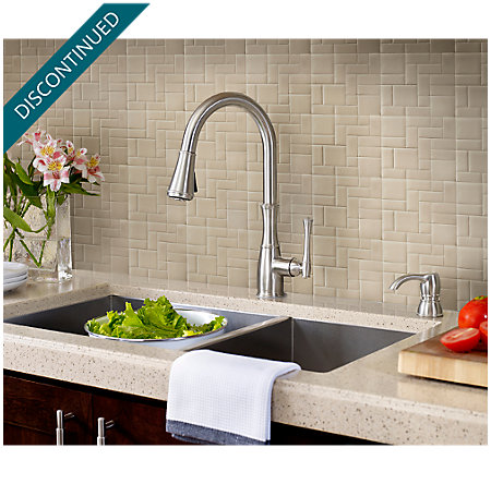 Stainless Steel Wheaton Pull-Down Kitchen Faucet - GT529-WHS - 3