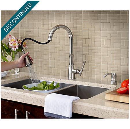 Stainless Steel Wheaton Pull-Down Kitchen Faucet - GT529-WHS - 6