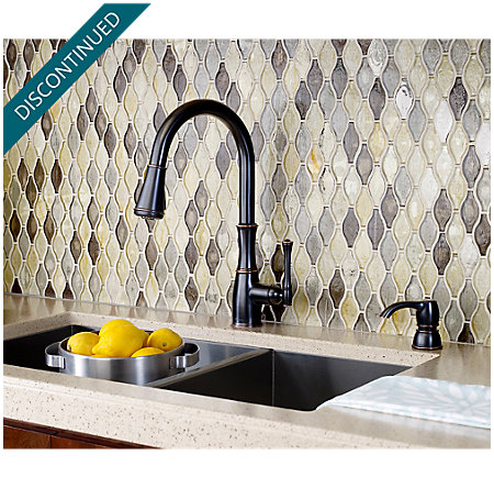 Tuscan Bronze Wheaton Pull-Down Kitchen Faucet - GT529-WHY - 3