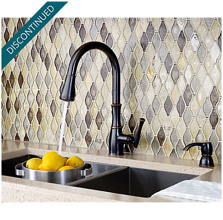 Tuscan Bronze Wheaton Pull-Down Kitchen Faucet - GT529-WHY - 4