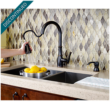 Tuscan Bronze Wheaton Pull-Down Kitchen Faucet - GT529-WHY - 6