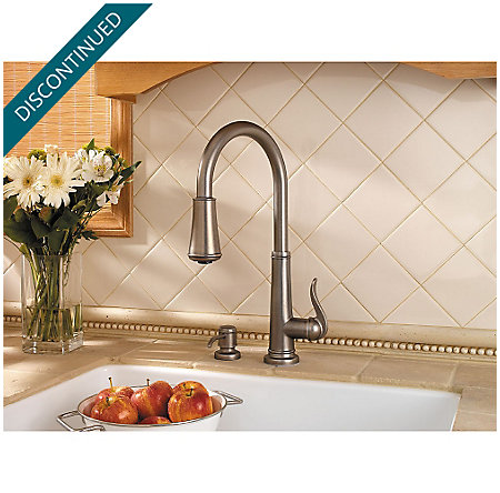 Rustic Pewter Ashfield 1-Handle, Pull-Down Kitchen Faucet - GT529-YPE - 4