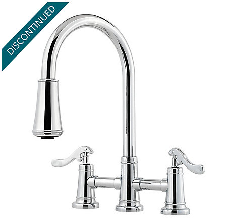 Polished Chrome Ashfield 2-Handle, Pull-Down Kitchen Faucet - GT531-YPC - 1