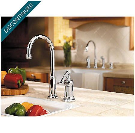 Polished Chrome Ashfield Bar/Prep Kitchen Faucet - GT72-YP2C - 2
