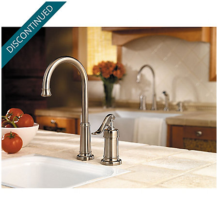 Brushed Nickel Ashfield Bar/Prep Kitchen Faucet - GT72-YP2K - 2