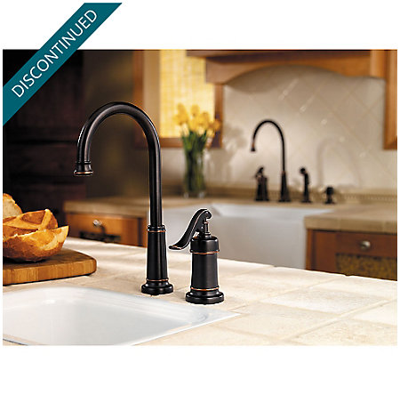 Tuscan Bronze Ashfield 1-Handle Bar and Prep Faucet - GT72-YP2Y - 2