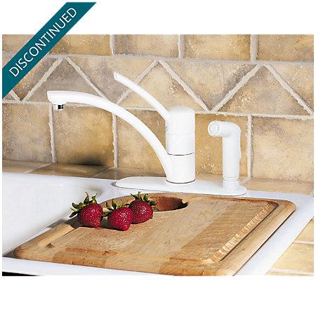 White Parisa 1-Handle Kitchen Faucet - H34-3NWW - 4