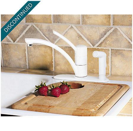 White Parisa 1-Handle Kitchen Faucet - H34-3NWW - 5