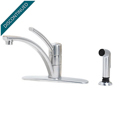 Stainless Steel Parisa 1-Handle Kitchen Faucet - H34-4NSS - 1