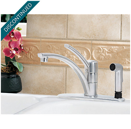 Stainless Steel Parisa 1-Handle, Pull-Out Kitchen Faucet - J34-3NSS - 2