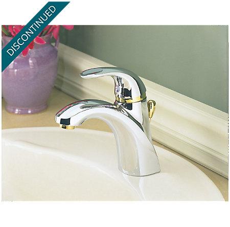 Polished Chrome / Polished Brass Parisa Single Control, Centerset Bath Faucet - J42-AMFB - 3