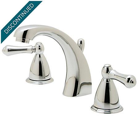 Polished Chrome Parisa Widespread Bath Faucet - J49-A0XC - 1