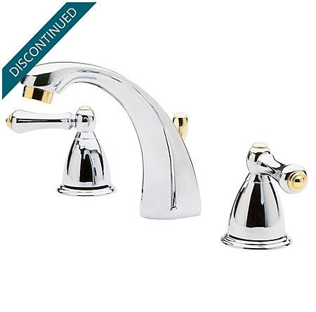 Polished Chrome / Polished Brass Parisa Widespread Bath Faucet - J49-AXMB - 1