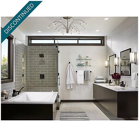 Black Kenzo 1-Handle Tub & Shower, Trim Only - R89-8DFB - 4