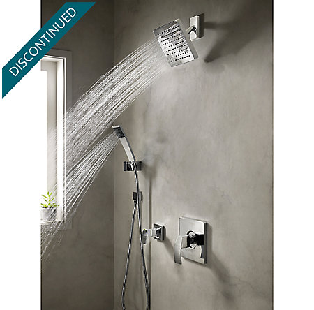 Polished Chrome Kenzo 1-Handle Tub & Shower, Trim Only - R89-8DFC - 3