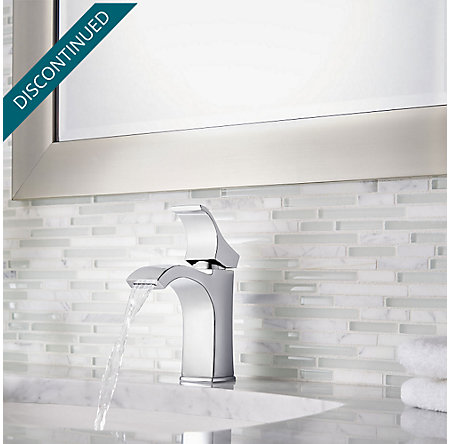 Polished Chrome Venturi Single Control, Centerset Bath Faucet - F-042-VNCC - 4