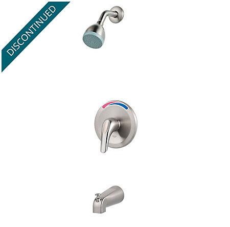 Brushed Nickel Pfirst Series 1-Handle Tub & Shower, Trim Only  - R89-030K - 1