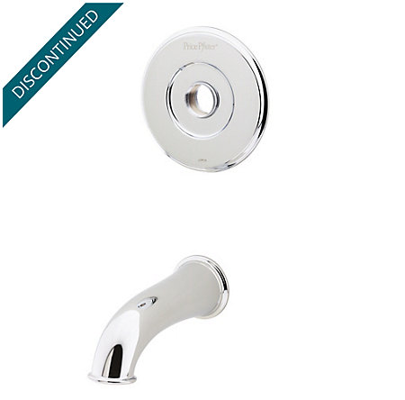 Polished Chrome Pfister Series Tub & Handle, Trim Only - R89-50XC - 1