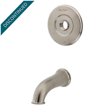 Brushed Nickel Pfister Series Tub & Handle, Trim Only - R89-50XK - 1