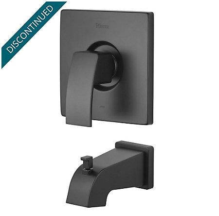Black Kenzo 1-Handle Tub, Trim Only - R89-5DFB - 1