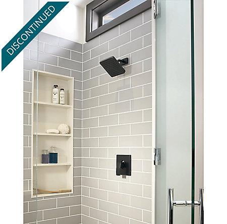 Black Kenzo 1-Handle Shower, Trim Only - R89-7DFB - 2