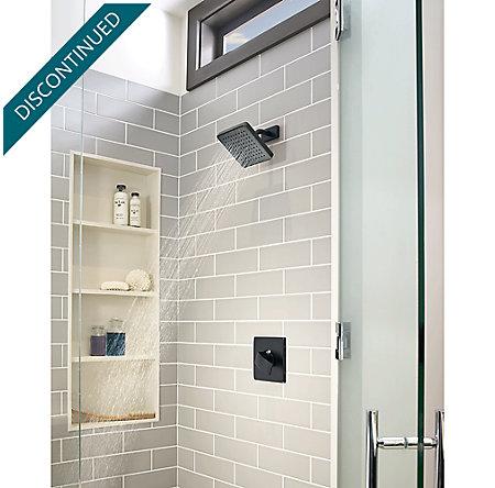 Black Kenzo 1-Handle Tub & Shower, Trim Only - R89-8DFB - 3