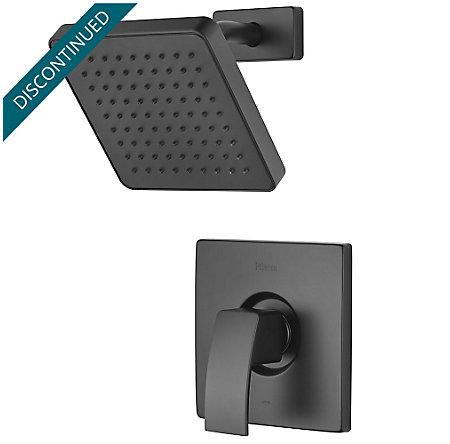 Black Kenzo 1-Handle Shower, Trim Only - R89-7DFB - 1