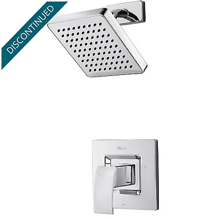 Polished Chrome Kenzo 1-Handle Shower, Trim Only - R89-7DFC - 1