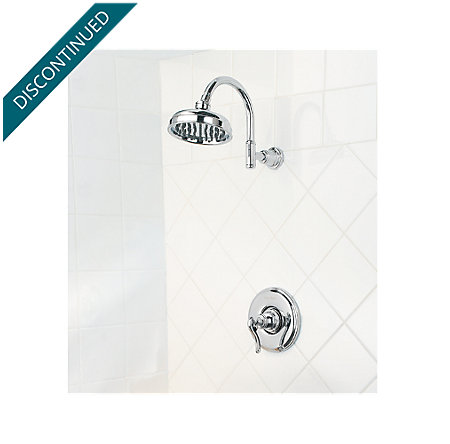Polished Chrome Ashfield 1-Handle Shower, Trim Only - R89-7YPC - 2