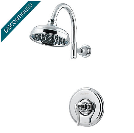 Polished Chrome Ashfield 1-Handle Shower, Trim Only - R89-7YPC - 1
