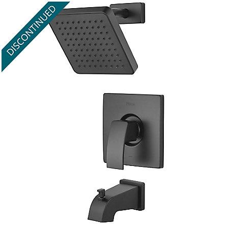 Black Kenzo 1-Handle Tub & Shower, Trim Only - R89-8DFB - 1