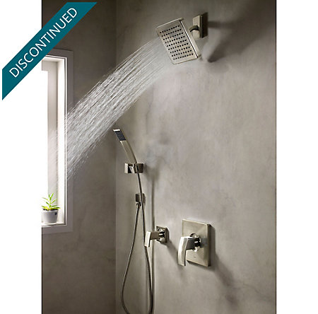 Brushed Nickel Kenzo 1-Handle Tub & Shower, Trim Only - R89-8DFK - 2