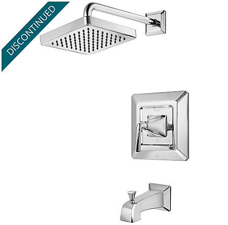 Polished Chrome Park Avenue 1-Handle Tub & Shower, Trim Only - R89-8FEC - 1