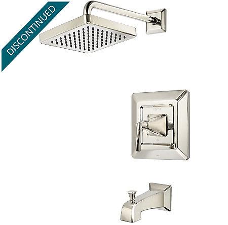 Polished Nickel Park Avenue 1-Handle Tub & Shower, Trim Only - R89-8FED - 1