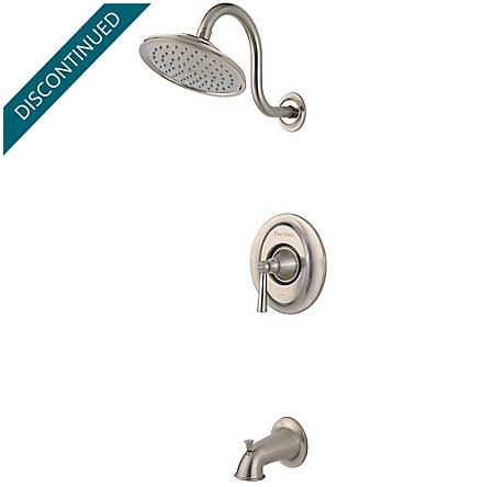 Brushed Nickel Saxton 1-Handle Tub & Shower, Trim Only - R89-8GLK - 1