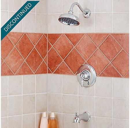 Polished Chrome Marielle 1-Handle Tub & Shower, Trim Only - R89-8MBC - 2