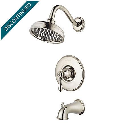 Polished Nickel Marielle 1-Handle Tub & Shower, Trim Only - R89-8MBD - 1