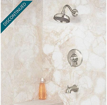 Brushed Nickel Marielle 1-Handle Tub & Shower, Trim Only - R89-8MBK - 2