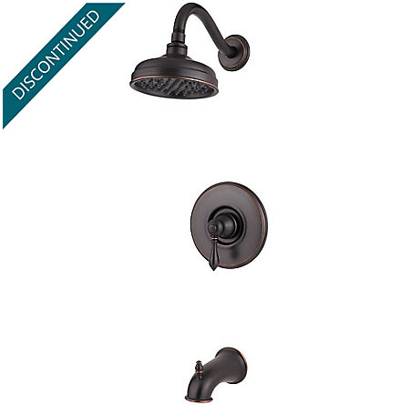 Tuscan Bronze Marielle 1-Handle Tub & Shower, Trim Only - R89-8MBY - 1