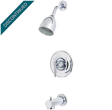 polished chrome contempra tub & shower combo - r89-8nc0 - 1