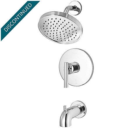 Polished Chrome Contempra 1-Handle Tub & Shower, Trim Only - R89-8NCC - 1