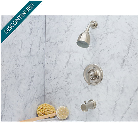 brushed nickel contempra tub & shower combo - r89-8nk0 - 2