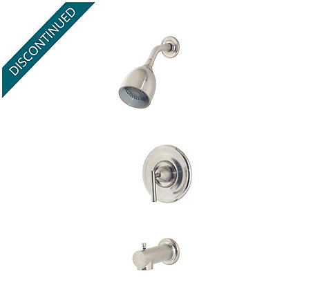 brushed nickel contempra tub & shower combo - r89-8nk0 - 1