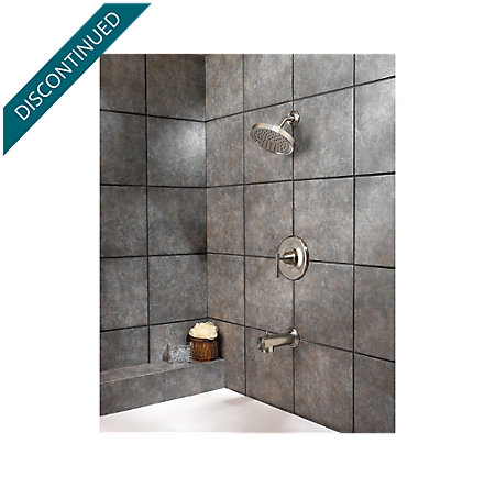 Brushed Nickel Contempra Tub & Shower Combo - R89-8NK1 - 2