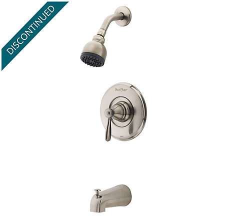 Brushed Nickel Portland Tub & Shower Combo - R89-8PK0 - 1